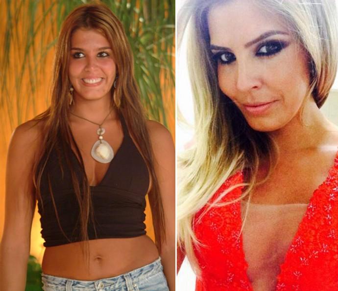 Marcela, mais conhecida como Mama, está loiríssima e continua linda (Foto: Jaq Joner/Tv Globo e Reprodução da Internet)