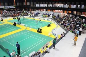 Etapa do Brasileiro de badminton está sendo realizada em Teresina (Foto: Marco Freitas)