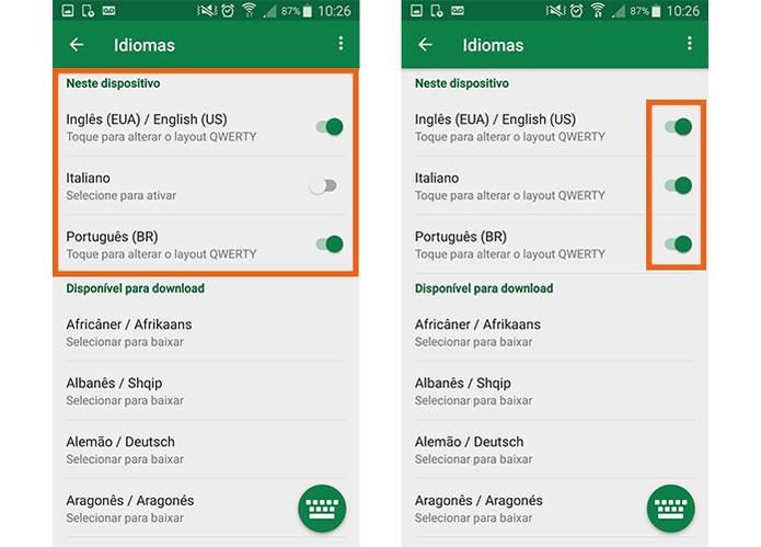 Baixe o idioma para adicionar no Swiftkey para Android (Foto: Reprodução/Barbara Mannara)
