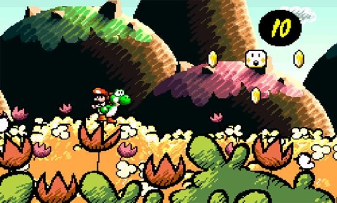 Visual de  Super Mario World 2: Yoshis Island impressiona até hoje (Foto: Reprodução / Game Informer)