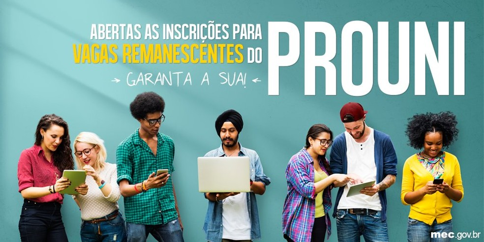 Inscrição para vagas remanescentes vai até 14 de agosto (Foto: Divulgação/MEC)
