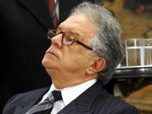 O ex-deputado Edmar Moreira, em reunião do Conselho de Ética da Câmara em 2009, quando enfrentava processo de cassação de mandato (Foto: Antonio Cruz/ABr)