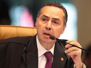 O ministro do STF Luís Roberto Barroso, relator do processo do mensalão mineiro (Foto:  Carlos Humberto/SCO/STF )