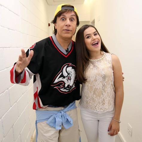 Tom Cavalcante com Maisa SIlva (Foto: Edu Viana)
