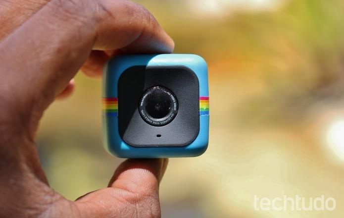 Polaroid Cube+ tem Wi-Fi e filma em Full HD (Foto: Fred Canequela/TechTudo)