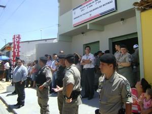 Unidade de Policiamento Solidário (UPS) foi inaugurada em Campina Grande (Foto: Taiguara Rangel/G1)