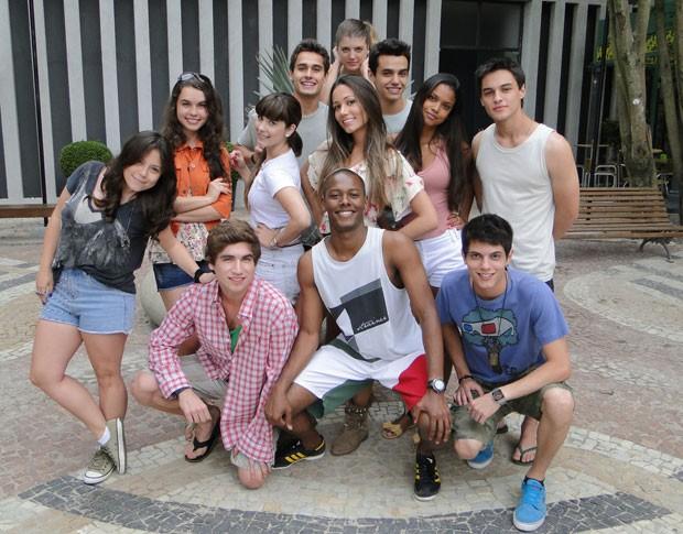 A galera reunida no intervalo das gravações (Foto: Malhação / TV Globo)