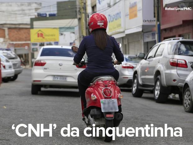 Habilitação será exigida para as motos 'cinquentinhas' a partir de fevereiro de 2016 (Foto: Rafael Lima/PMC)