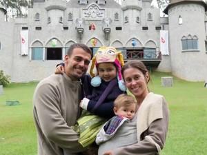 Dani Monteiro curte a serra com a família (Foto: Arquivo Pessoal)