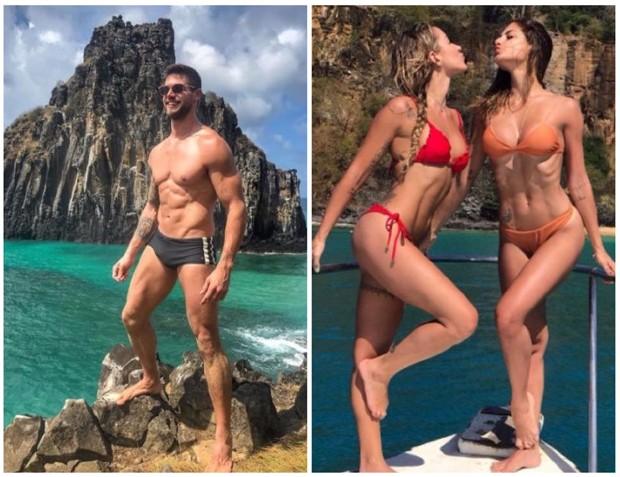 Jonas Sulzbach, Gabriela Pugliesi e Mari Gonzalez  (Foto: Reprodução/Instagram)