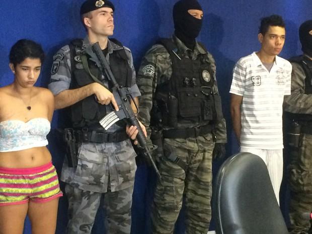 Polícia apresenta suspeitos de envolvimento na morte de Nathália Zucatelli após sair de escola em Goiânia, Goiás (Foto: Vitor Santana/G1)