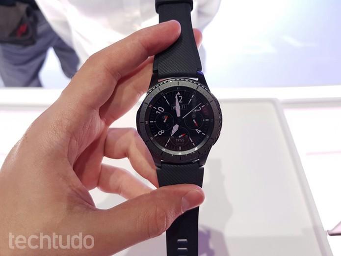 95513f2a2d7 Samsung Gear S3 Frontier (Foto  Thássius Veloso TechTudo))