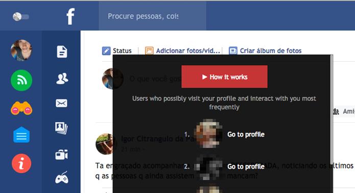 Nova interface do Facebook Flat traz de volta função que revela quem viu seu perfil (Foto: Reprodução/Facebook)