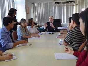 Ricardo Lagreca concedeu entrevista nesta quinta em Natal (Foto: Divulgação/Sesap)