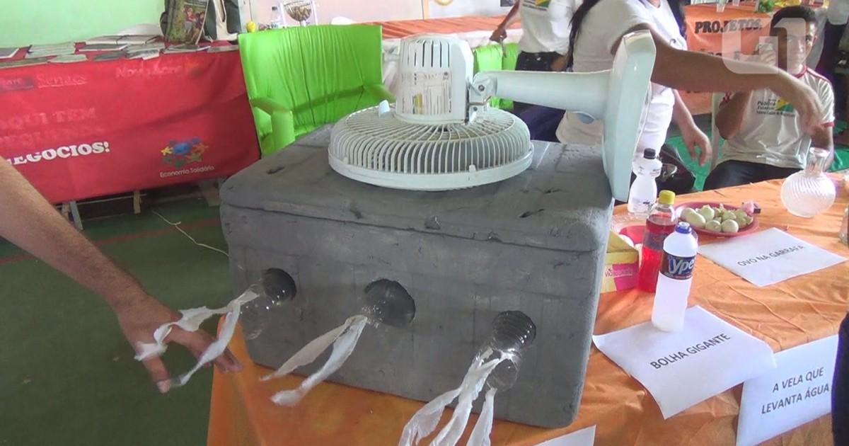 G1 Com Isopor E Ventilador Alunos Do Ac Fabricam Ar Condicionado