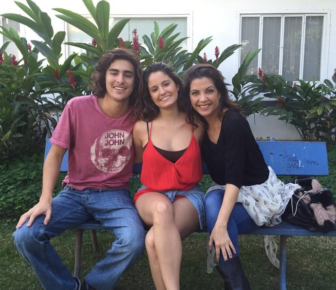 Bruno Montaleone, Amanda de Godoi e Thalita Rebouças se divertem no snapchat (Foto: Gshow)
