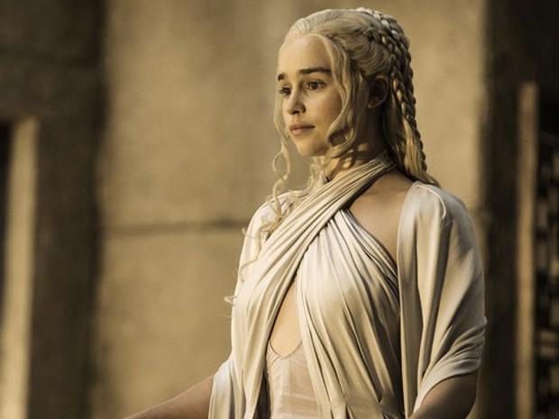 Emilia Clarke como Daenerys Targaryen na quinta temporada de 'Game of thrones' (Foto: Divulgação)