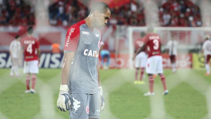 Dida Pompeu - goleiro do América-RN (Foto: Fabiano de Oliveira)