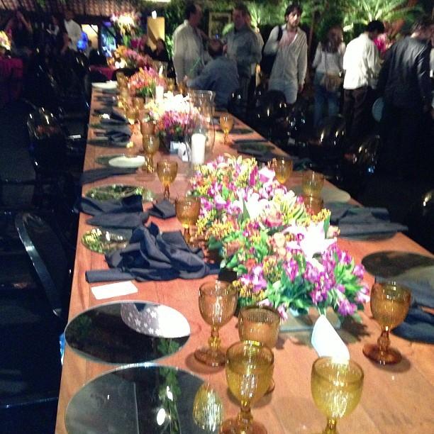 Mesa dos convidados (Foto: Reprodução Instagram)
