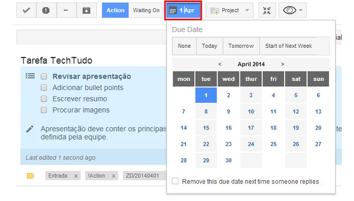 Utilize o ActiveInbox para criar listas de tarefas no Gmail (Foto: Reprodução/Paulo Alves)