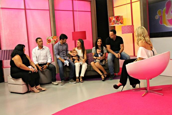 Catiana, Sérgio, Guilherme, Morgana, Paula telespectadores Mistura com Rodaika (Foto: Maicon Hinrichsen/RBS TV)