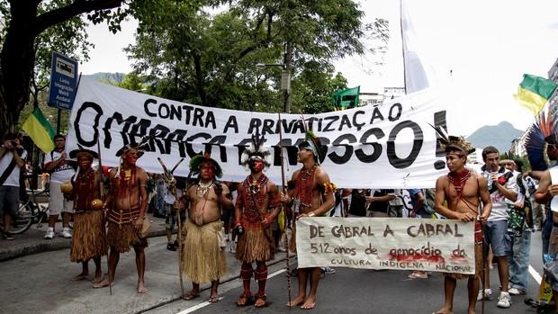 Protesto Maracanã (Foto: Rudy Trindade / Agência Estado)