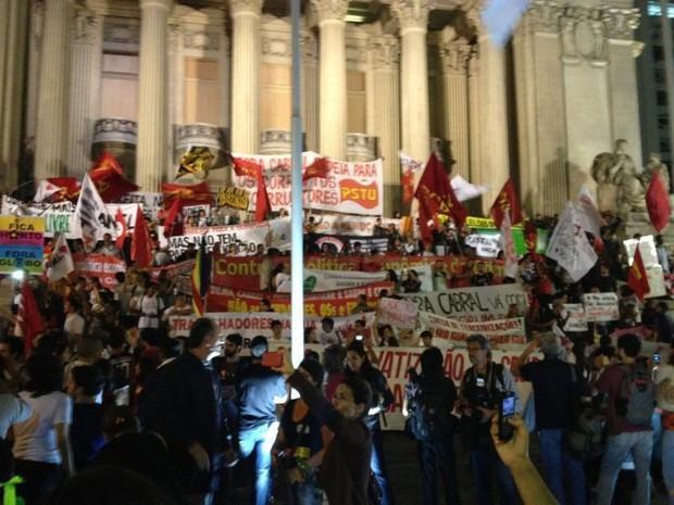 protesto alerj (Foto: Henrique Coelho/G1)