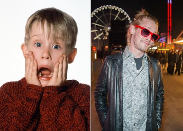 Macaulay Culkin em 'Esqueceram de Mim' (1990) e em foto recente do seu Instagram (Foto: Divulgação / Instagram)