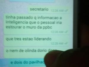 Setor de Inteligência teria enviado mensagens ao secretário Pedro Eurico. (Foto: Divulgação/Sindicato dos Agentes Penitenciários)