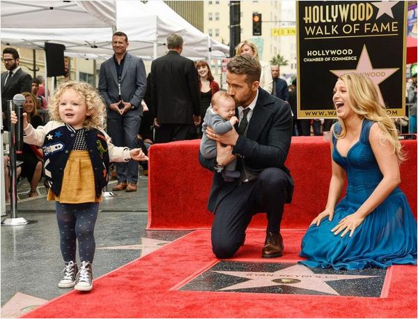 Reyna Reynolds, Blake Lively e as duas filhas (Foto: Instagram)