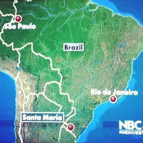 No mapa, São Paulo aparece na região Norte do país (Foto: Reprodução)