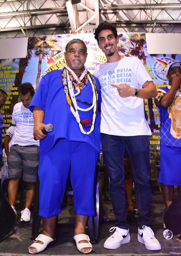 Sr. Laila e Gabriel David (Foto: Rodrigo Mesquita  / Divulgação. )