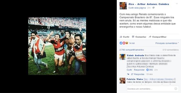 Zico comentário (Foto: Reprodução )
