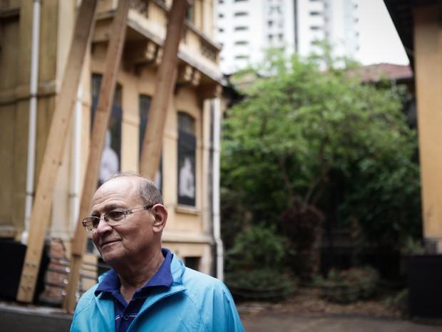 Seu Baía volta ao Hospital Matarazzo, onde trabalhou por mais de 30 anos (Foto: Caio Kenji/G1)