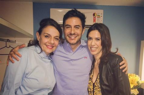 Rosi Campos, Ricardo Tozzi e Maria Clara Gueiros (Foto: Arquivo pessoal)