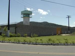 Penintenciária de Mongaguá, SP (Foto: Reprodução / TV Tribuna)