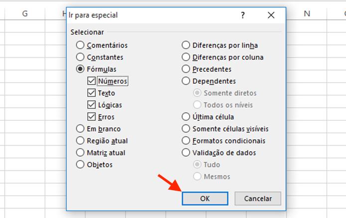 Iniciando a busca por fórmulas em células do Excel (Foto: Reprodução/Marvin Costa)