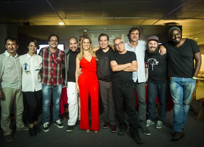Elenco e direção se reúnem para a coletiva de imprensa da primeira temporada do seriado (Foto: João Miguel Júnior/ TV Globo)