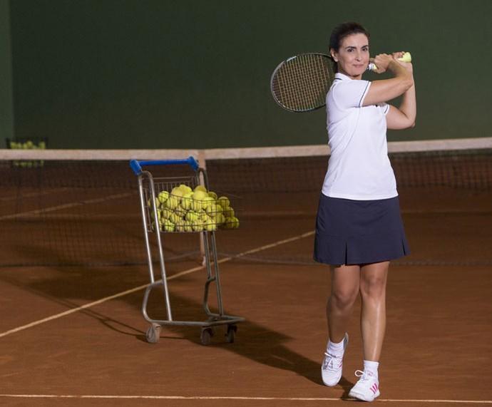 Chegou a vez do tênis na série #FátimaAtleta (Foto: Felipe Monteiro/Gshow)