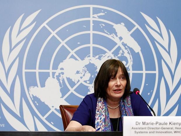 Marie-Paule Kieny, diretora-geral assistente da OMS (Organização Mundial da Saúde) fala sobre o zika (Foto: Pierre Albouy/Reuters)