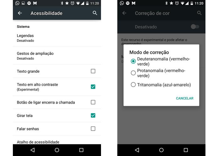 Acessibilidade agora inclui ajustes melhores de cor (Foto: Reprodução/Paulo Alves)