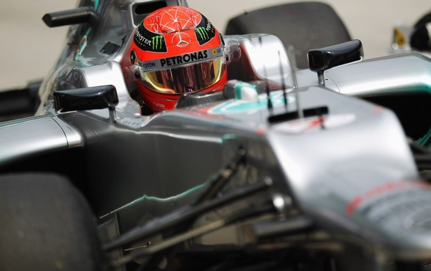 Schumacher foi o terceiro no treino oficial para o GP da Malásia (Foto: Getty Images)