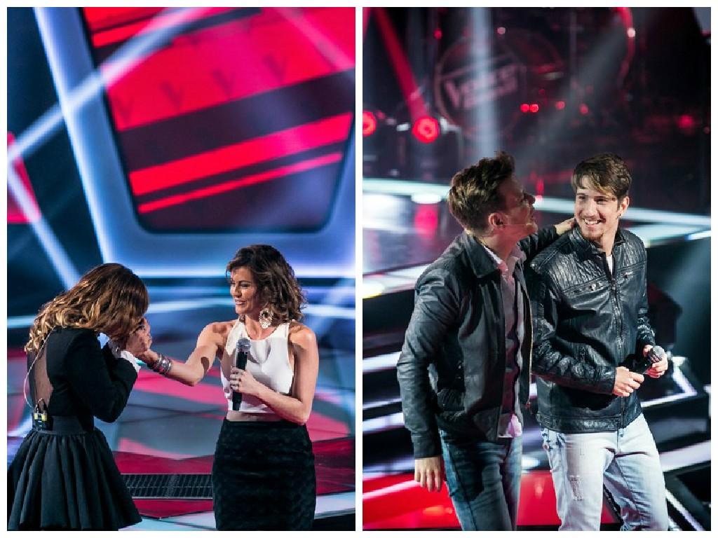 Tabatha Fher e Eduardo Camiletti no The Voice Brasil (Foto: Divulgação/ TV Globo)