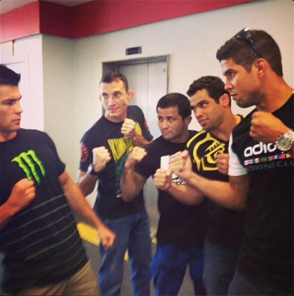 Dominick Cruz, Jussier Formiga, Renan Barão e Léo Santos MMA UFC (Foto: Reprodução/Instagram)