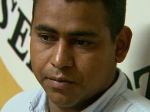 Sérgio Claro dos Santos, suspeito de agredir criança a paulada em Barrinha (Foto: Alexandre Sá/EPTV)