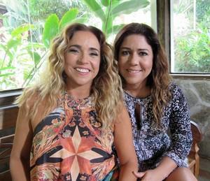 Daniela Mercury e a companheira Malu Verçosa  (Foto: Priscilla Massena/Gshow)