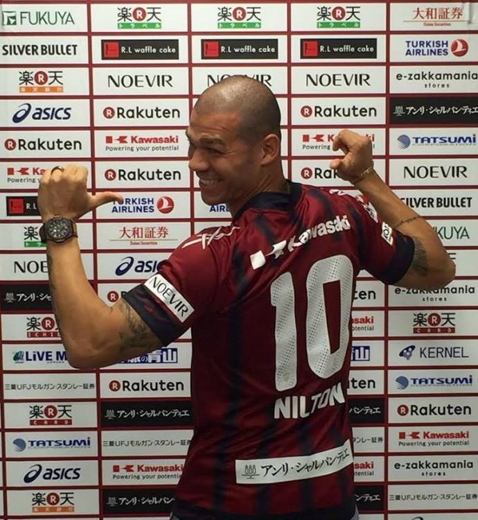 BLOG: Volante Nilton ganha a camisa 10 e tem estreia confirmada pelo Vissel Kobe