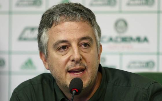 Paulo Nobre, presidente do Palmeiras (Foto: César Greco / Agência Palmeiras)