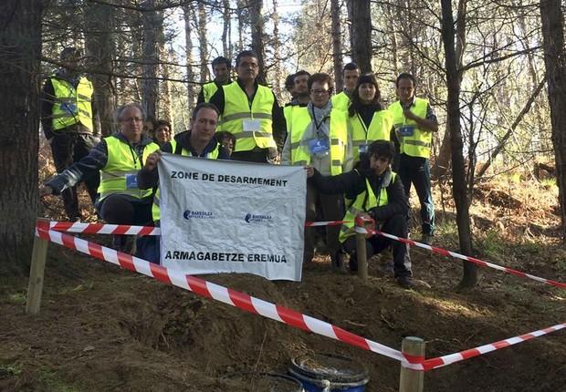 Mediadores em esconderijo de armas revelado do ETA  (Foto: EFE)