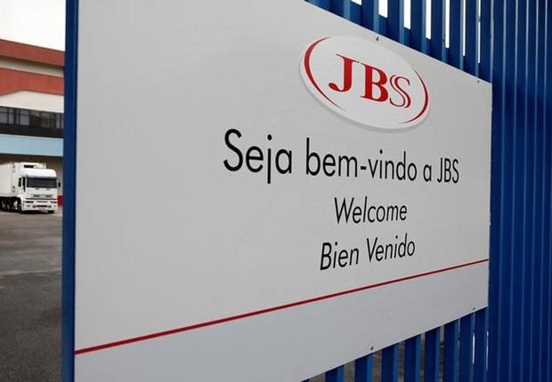 Entrada de unidade da JBS em Jundiaí, no interior de São Paulo (Foto: Paulo Whitaker/Reuters)